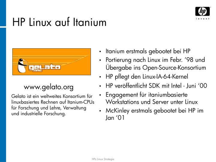 HP Linux auf Itanium