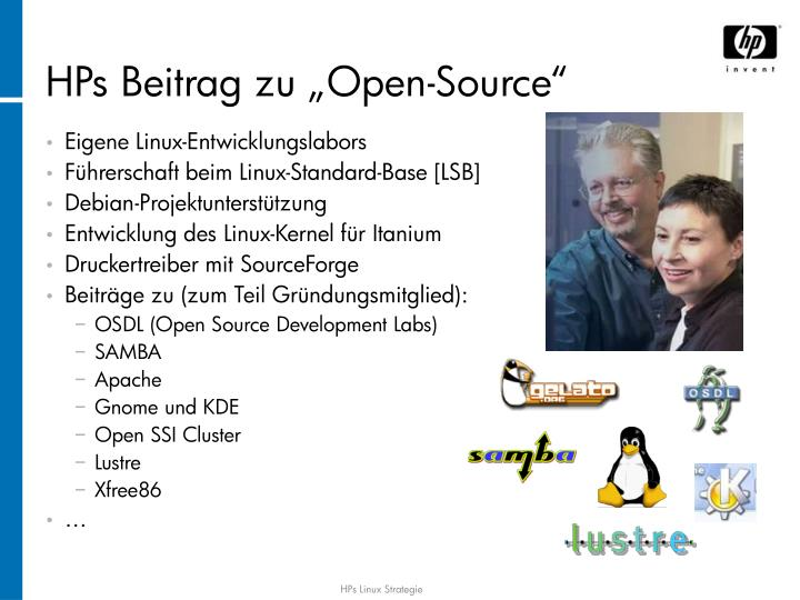 "HPs Beitrag zu ""Open-Source"""