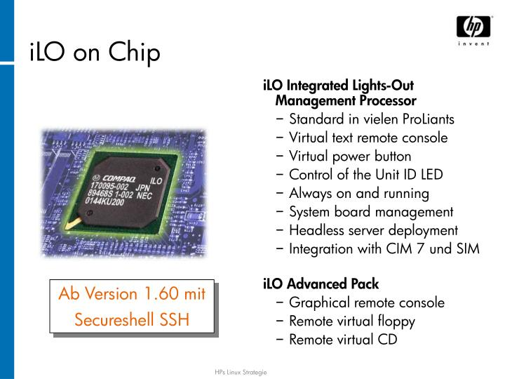 iLO on Chip