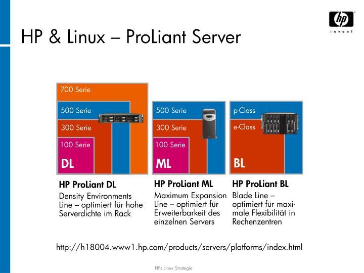 HP & Linux – ProLiant Server