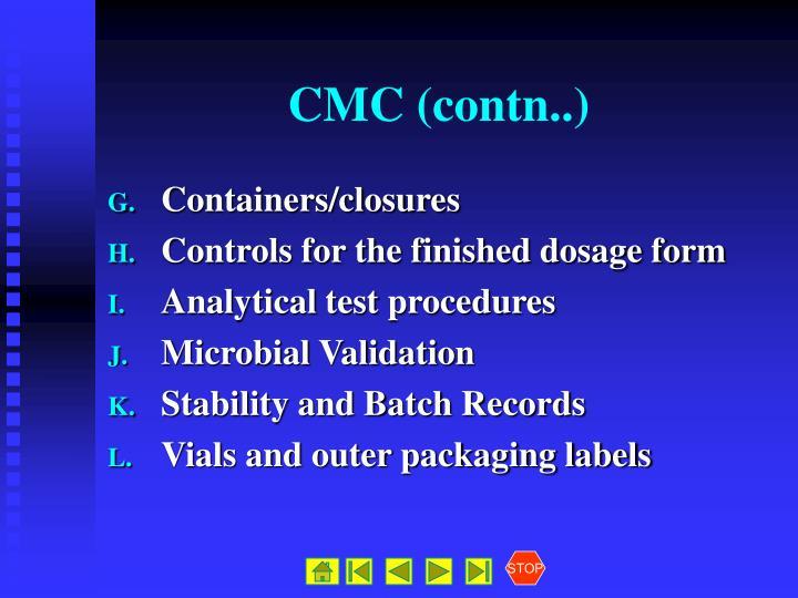 CMC (contn..)