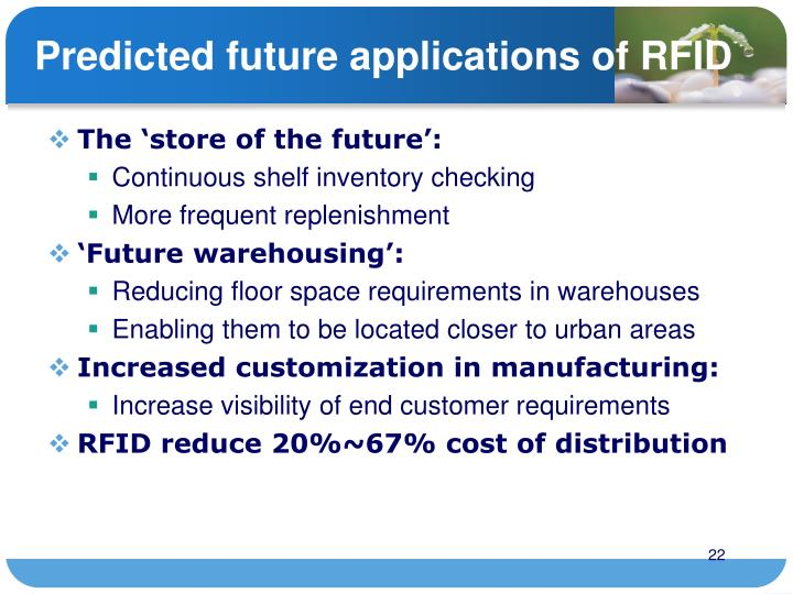 Predicted future applications of RFID