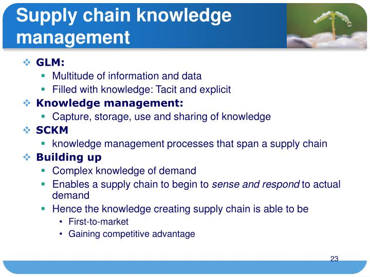 Supply chain knowledge management