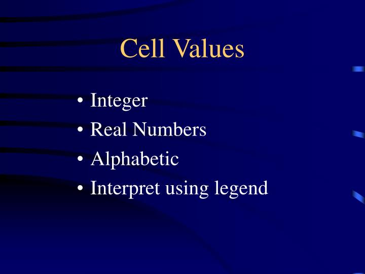 Cell Values
