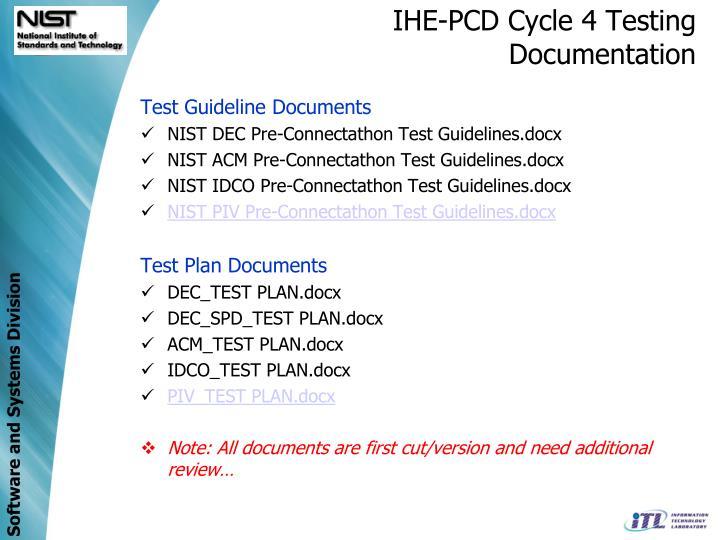 IHE-PCD Cycle 4 Testing