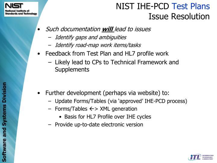 NIST IHE-PCD
