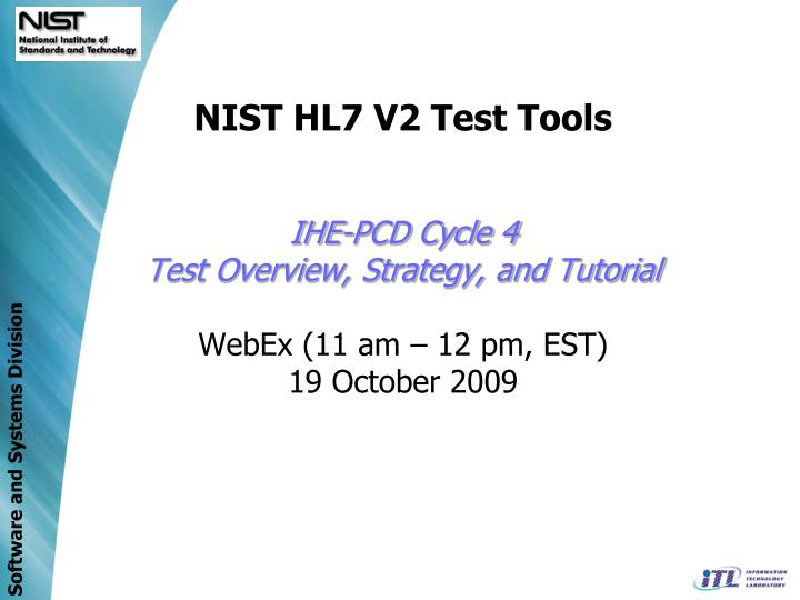 NIST HL7 V2 Test Tools