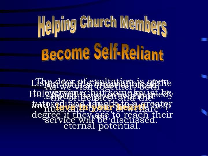 Helping Church Members