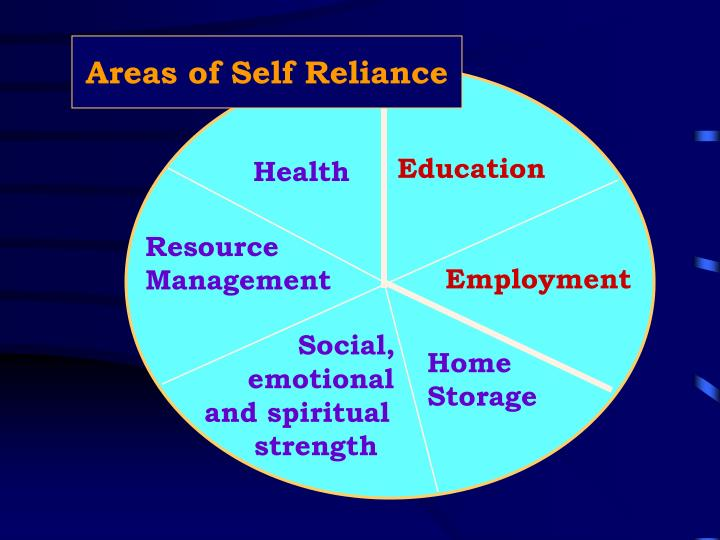 Areas of Self Reliance