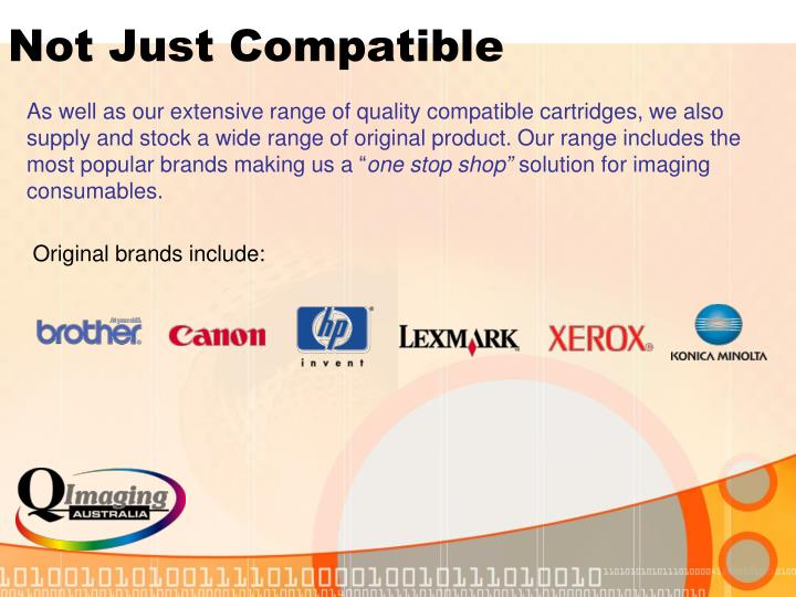 Not Just Compatible
