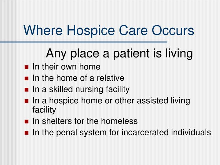 Where Hospice Care Occurs