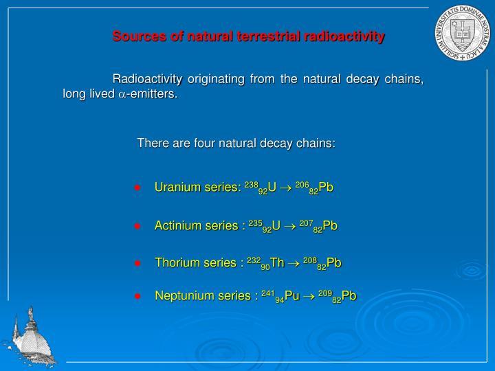 Uranium series: