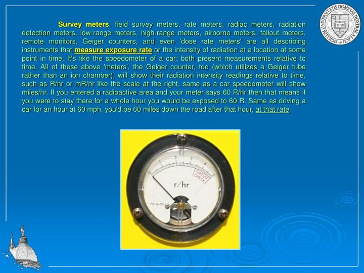 Survey meters