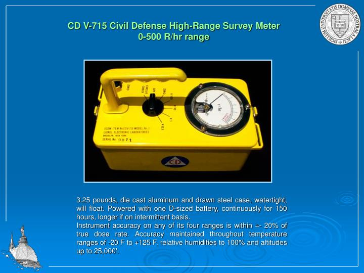 CD V-715 Civil Defense High-Range Survey Meter