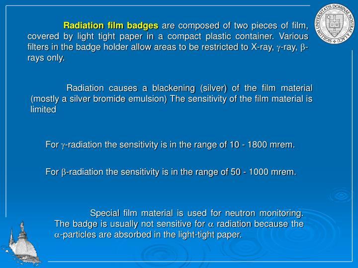 Radiation film badges