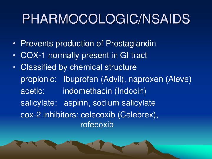 PHARMOCOLOGIC/NSAIDS