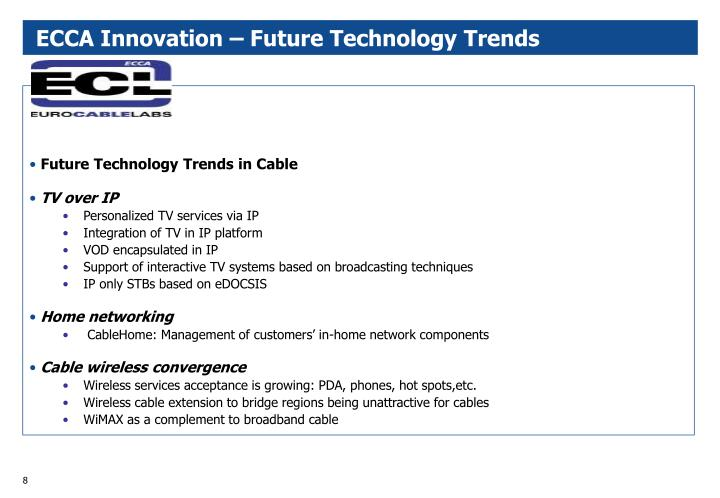 ECCA Innovation – Future Technology Trends