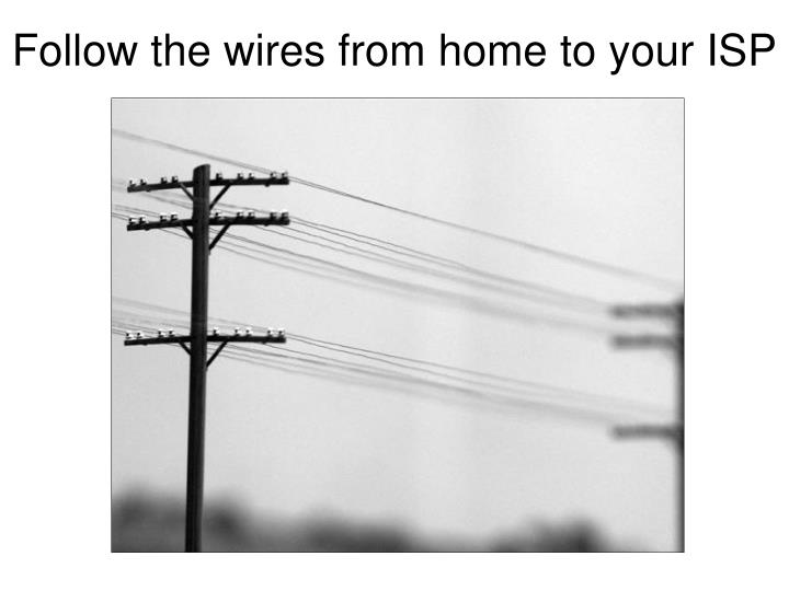 Follow the wires from home to your ISP