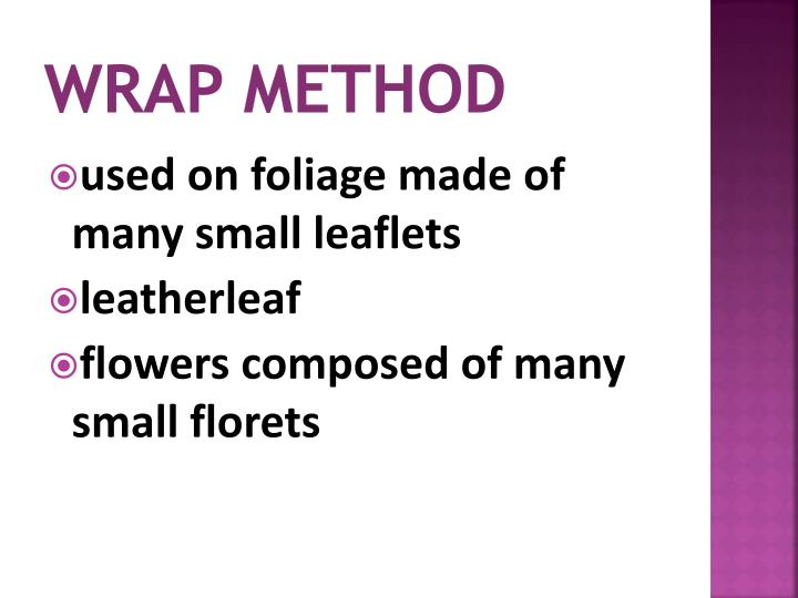 Wrap method