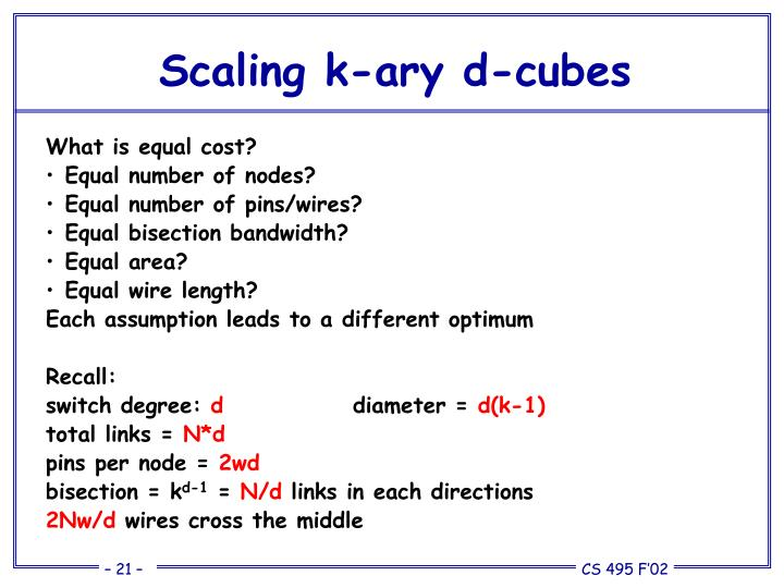 Scaling k-ary d-cubes