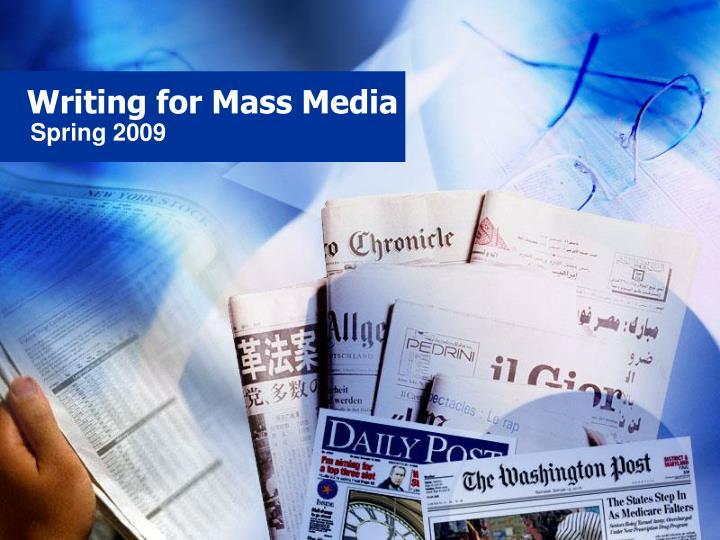 writing for mass media