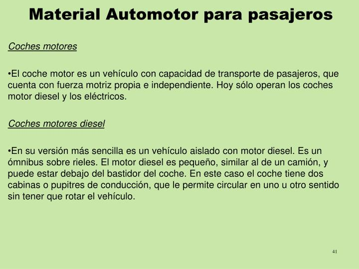 Material Automotor para pasajeros