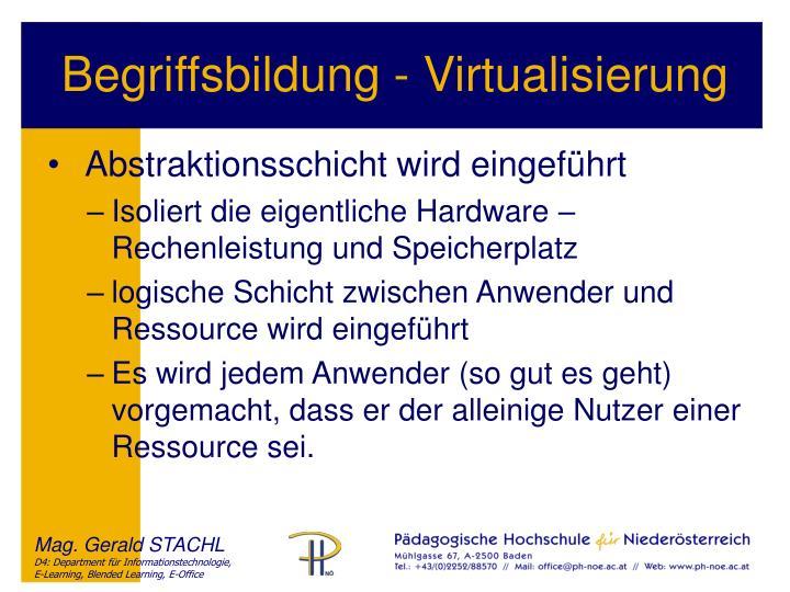 Begriffsbildung - Virtualisierung