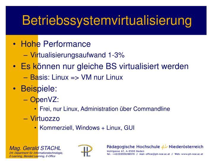 Betriebssystemvirtualisierung