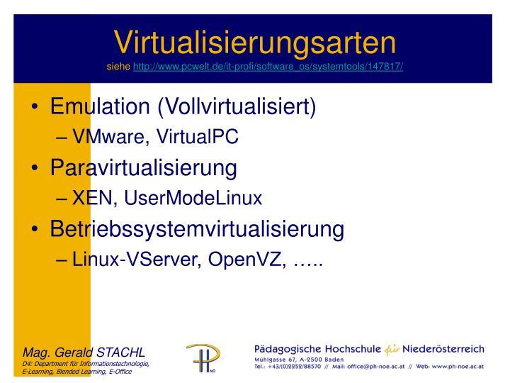 Virtualisierungsarten