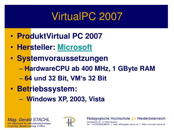 VirtualPC 2007
