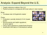 analysis expand beyond the u s