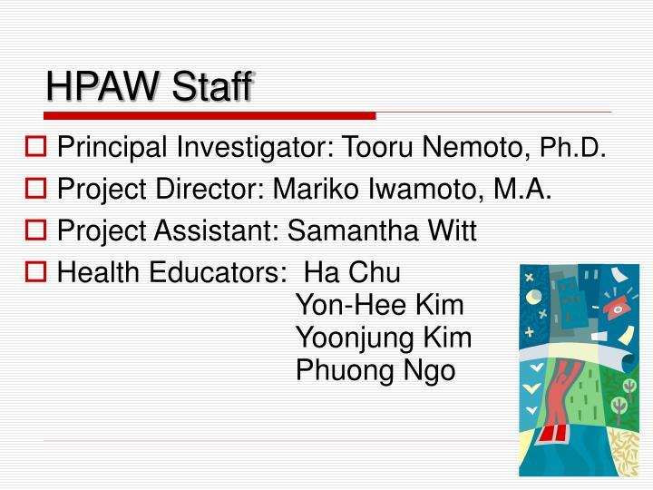 HPAW Staff