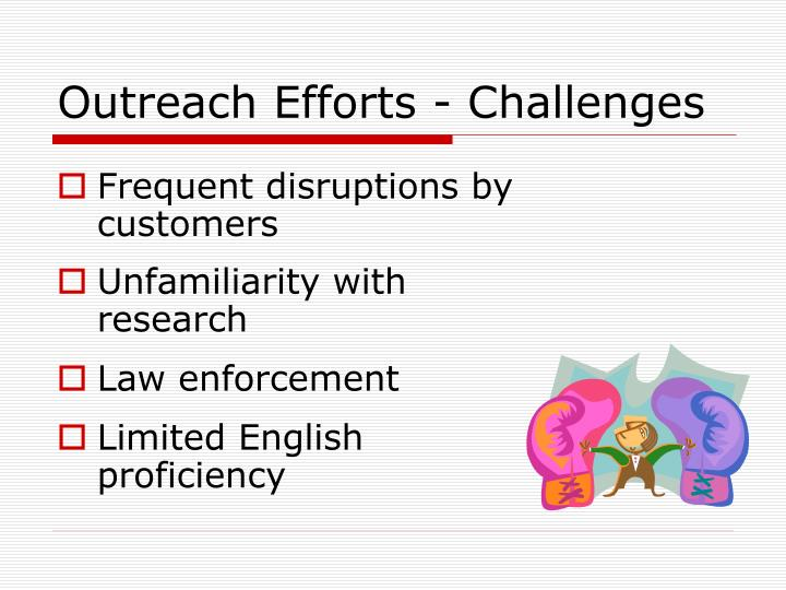 Outreach Efforts - Challenges