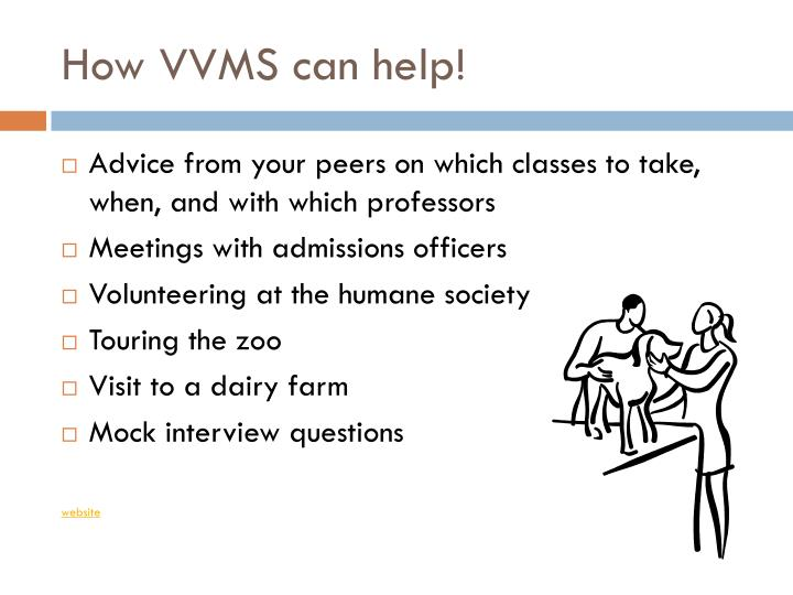 How VVMS can help!