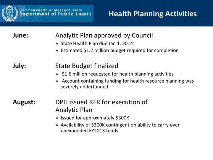 Health Planning Activities