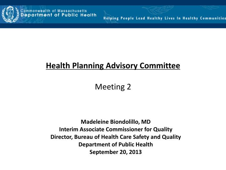 Health Planning Advisory Committee