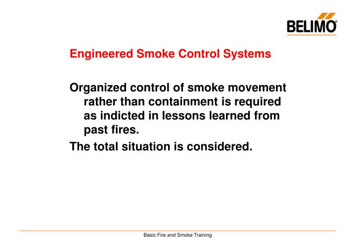 Engineered Smoke Control Systems