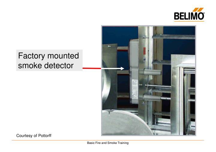 Factory mounted smoke detector