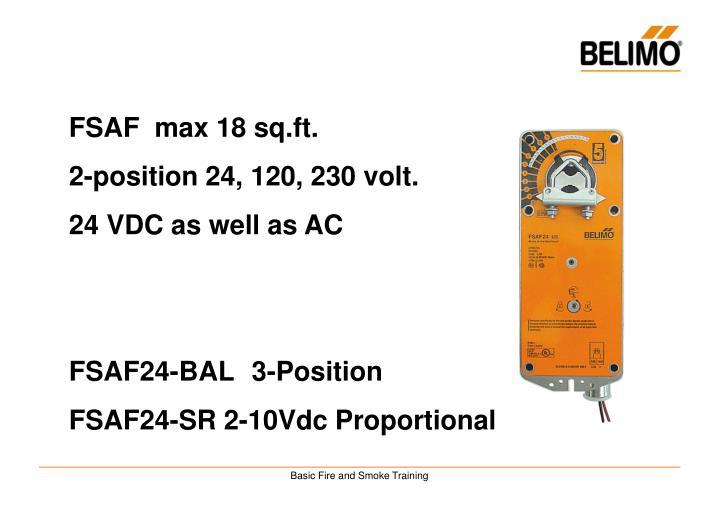 FSAF  max 18 sq.ft.