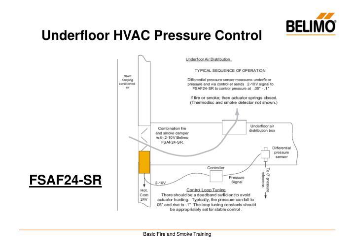Underfloor HVAC Pressure Control