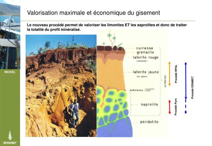 Valorisation maximale et conomique du gisement