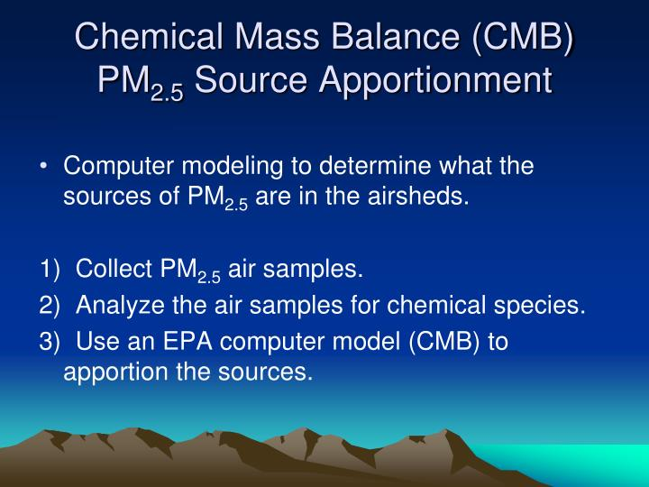 Chemical Mass Balance (CMB) PM