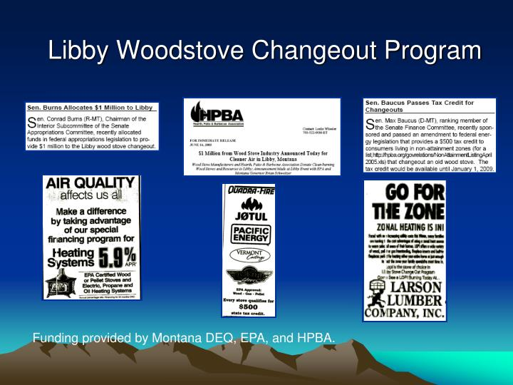 Libby Woodstove Changeout Program