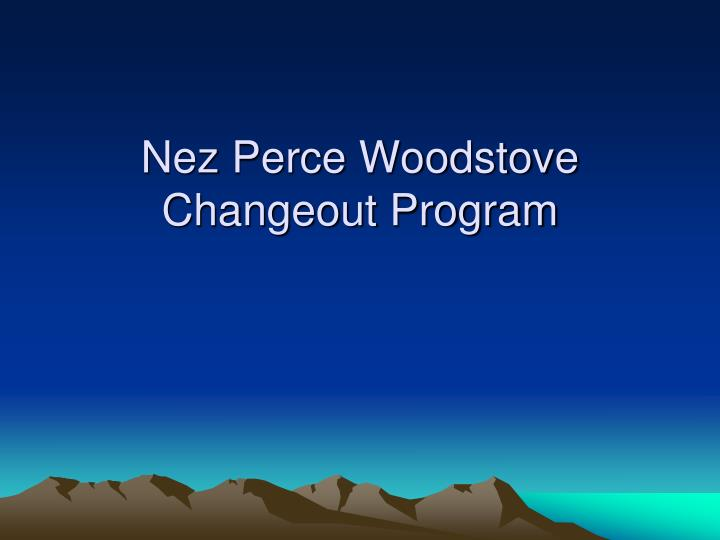 Nez Perce Woodstove