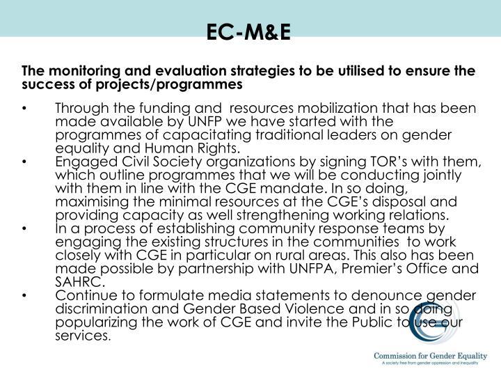 EC-M&E