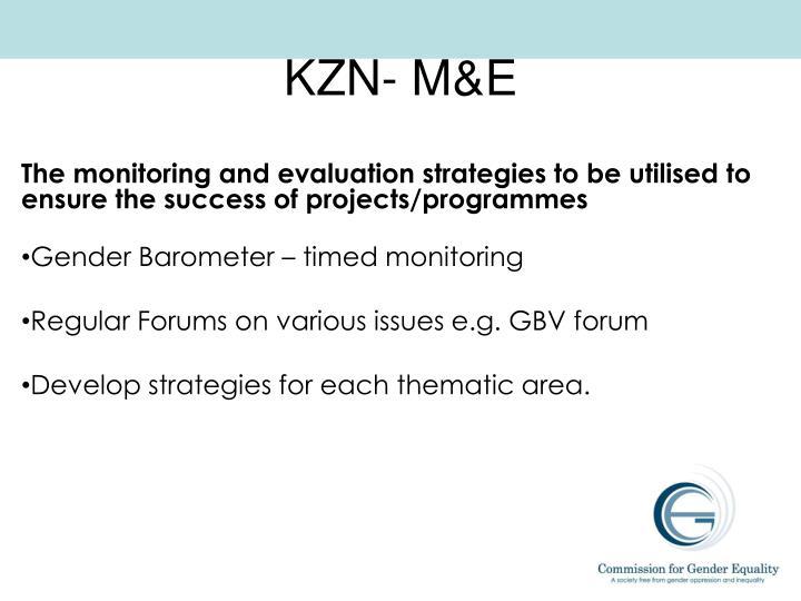 KZN- M&E