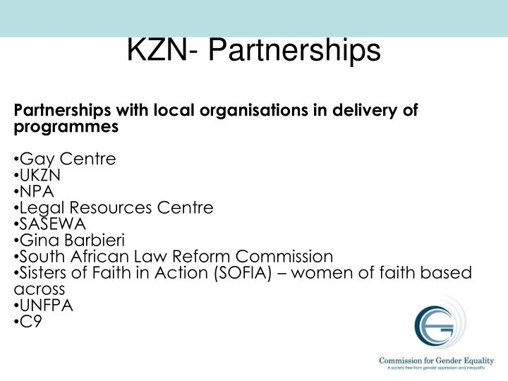 KZN- Partnerships