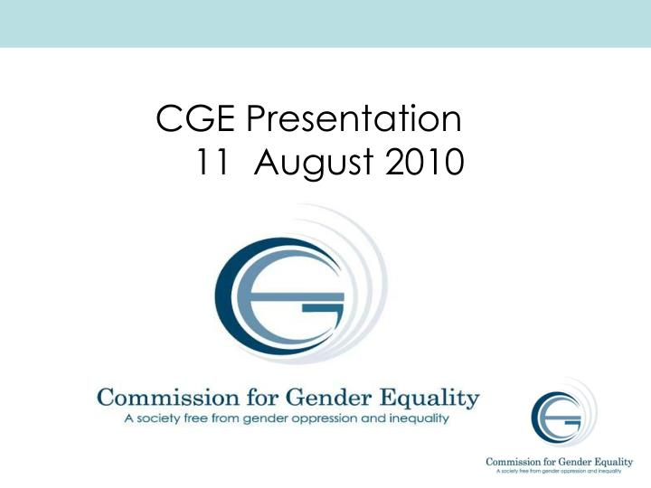 CGE Presentation