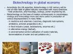 biotechnology in global economy