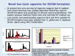 novel low toxic saponins for iscom formation